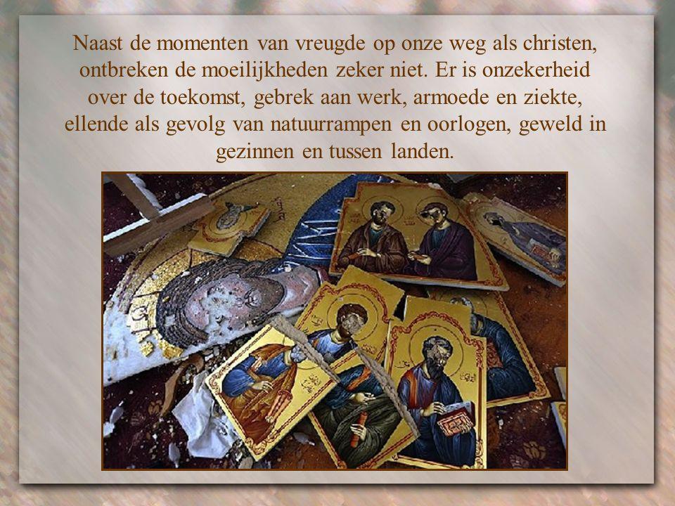 """""""Houd moed: Ik heb de wereld overwonnen."""" Jezus zegt het niet alleen tot zijn apostelen maar net zo goed tot alle christenen die in de loop van de eeu"""