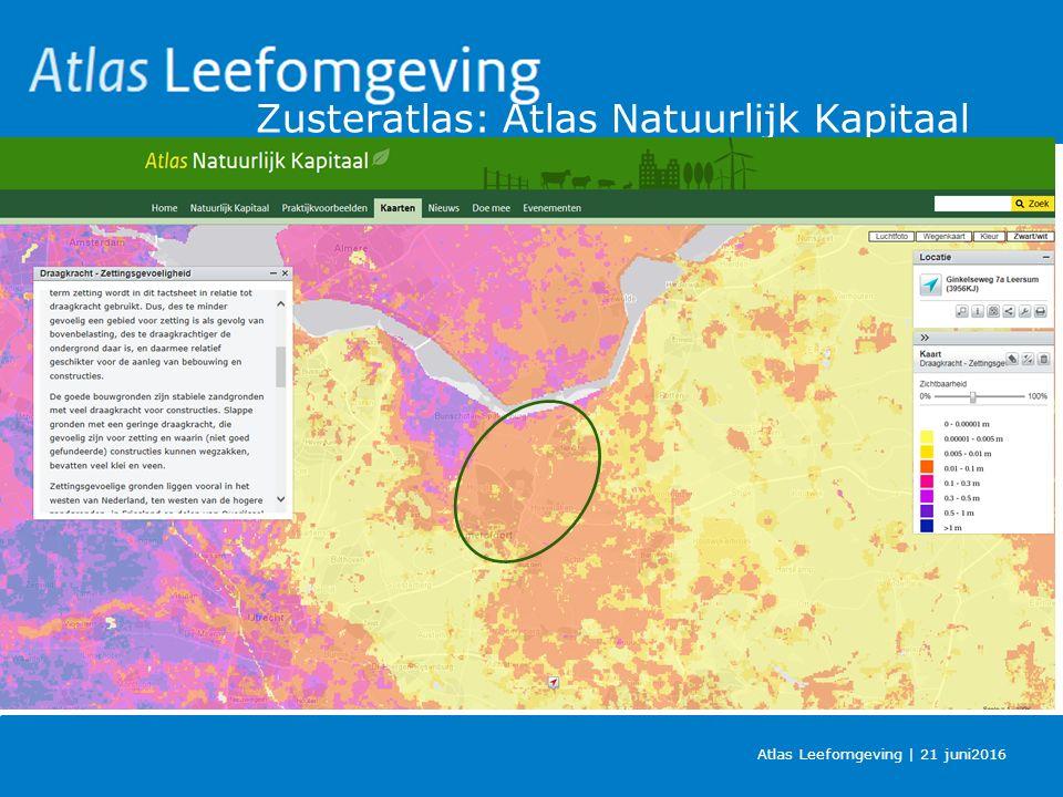 Zusteratlas: Atlas Natuurlijk Kapitaal Atlas Leefomgeving | 21 juni2016