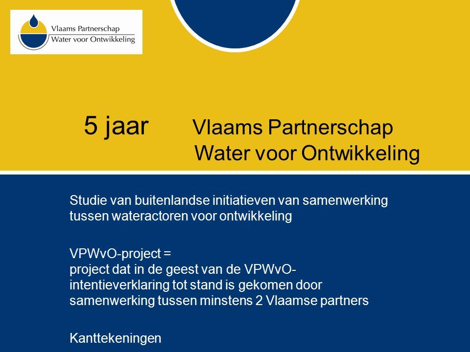 JaarAantal projecten Aantal bereikte mensen Water direct Water indirect Sanitatie direct Sanitatie indirect 20053 37.735220.00025.813 geen gegevens 20066 46.670254.50026.014250.000 20077 67.400253.50035.40088.000 20089 201.0002.392.500105.7002.453.500 TOTAAL 25352.8053.120.500192.9272.791.500 Via cofinanciering van de Vlaamse overheid