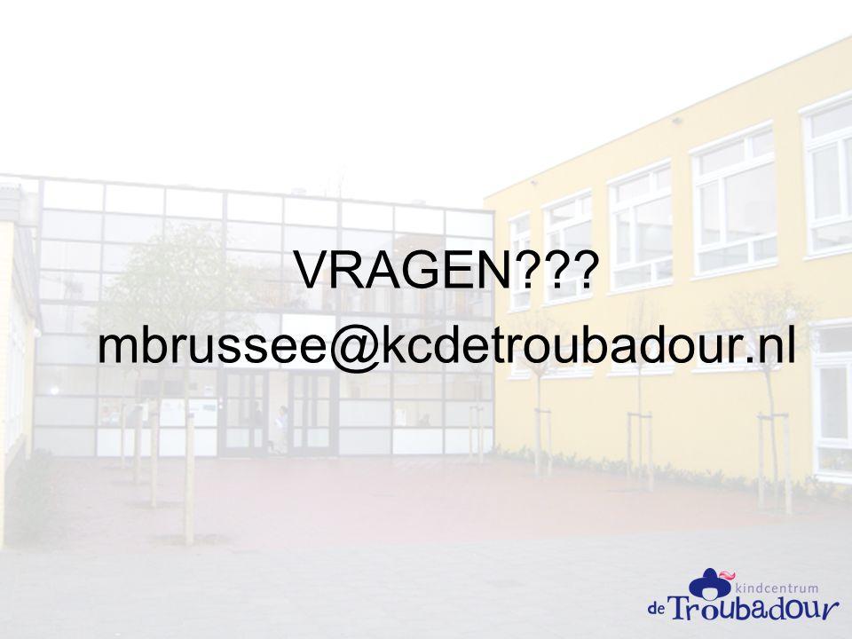 VRAGEN mbrussee@kcdetroubadour.nl