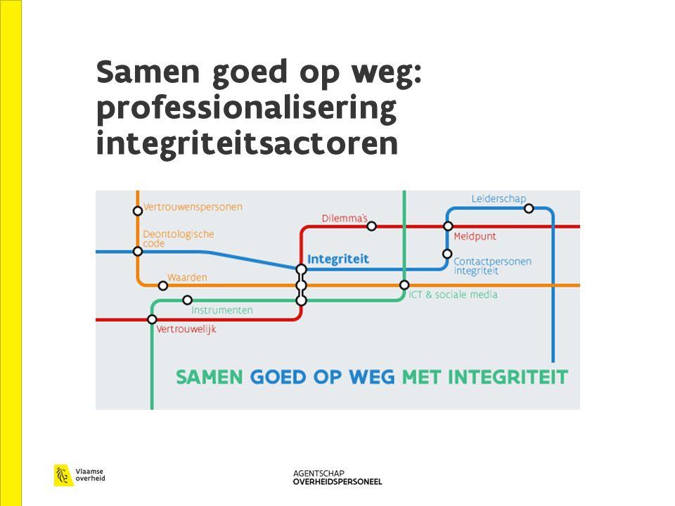 Samen goed op weg: professionalisering integriteitsactoren