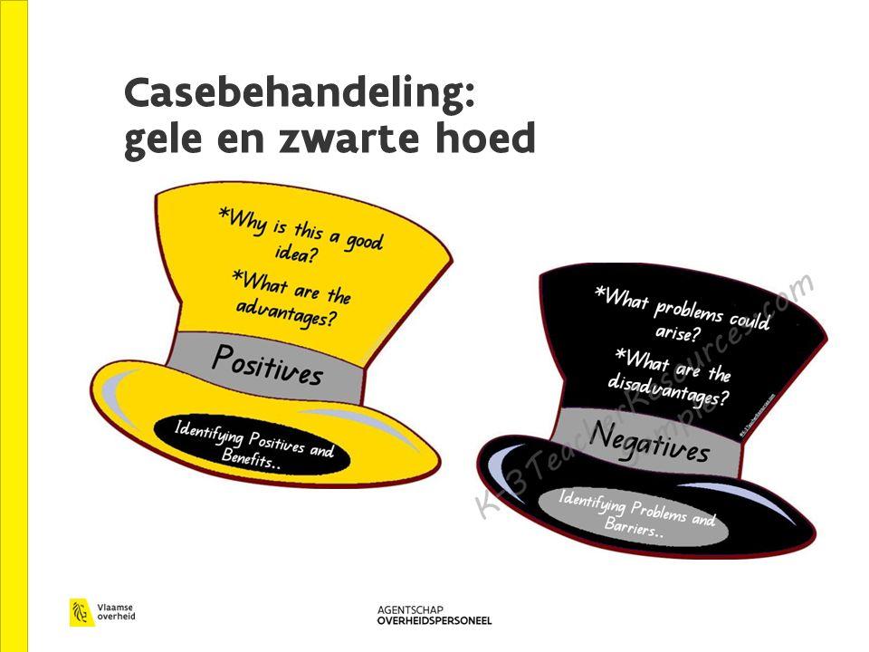 Casebehandeling: gele en zwarte hoed