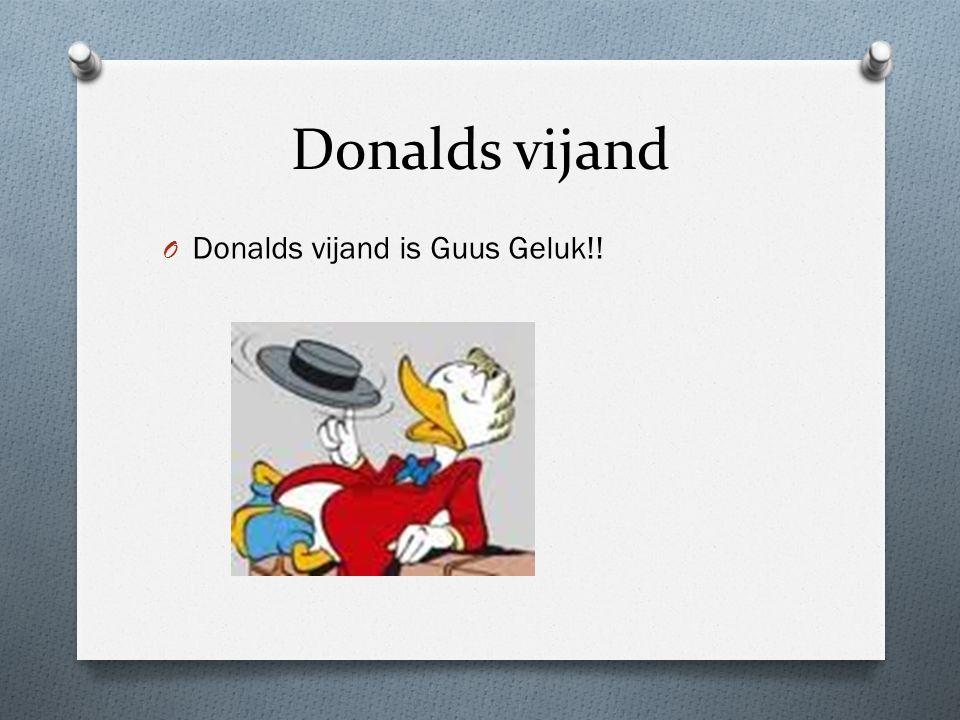 Donalds vrienden Donalds vrienden zijn vooral Superdonald, Katrien, Mickey en Goofy