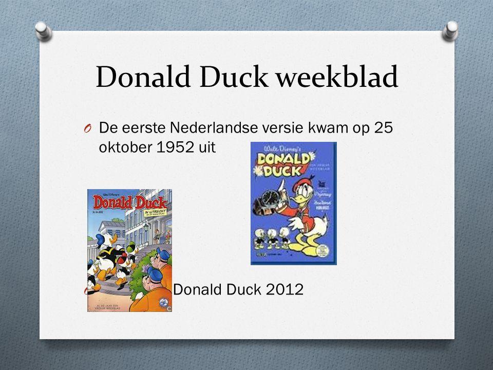Wie heeft Donald Duck bedacht? O Walt Disney heeft hem bedacht O Later is Carl Barks Donald gaan tekenen