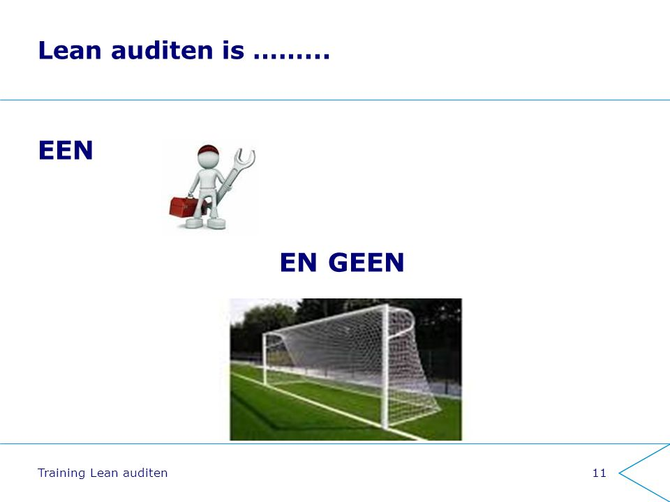 Lean auditen is ……... EEN EN GEEN Training Lean auditen11