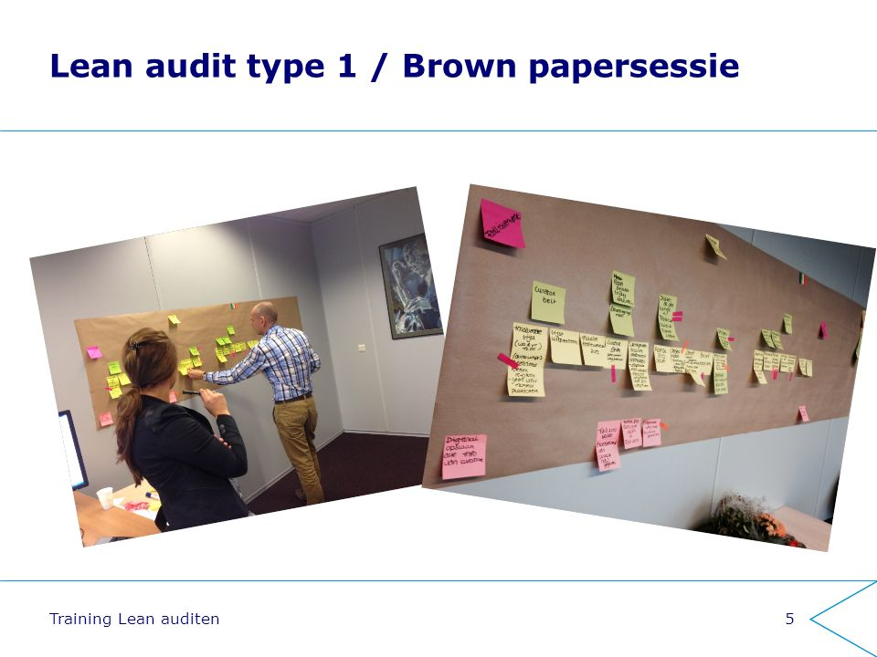 Lean audit type 1 / Brown papersessie Training Lean auditen5