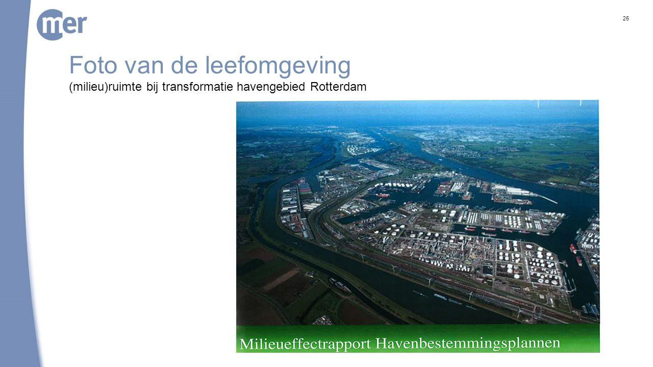Foto van de leefomgeving 25 (milieu)ruimte bij transformatie havengebied Rotterdam