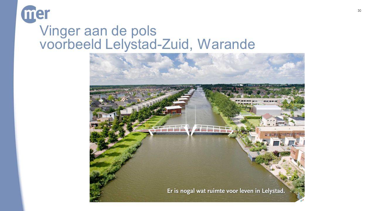 Vinger aan de pols voorbeeld Lelystad-Zuid, Warande 30