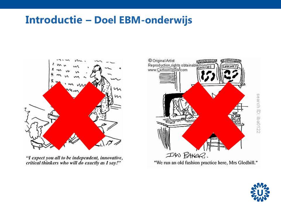 Introductie – Doel EBM-onderwijs