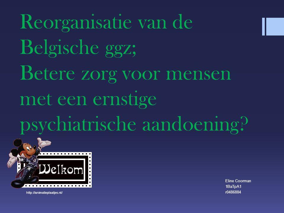 Reorganisatie van de Belgische ggz; Betere zorg voor mensen met een ernstige psychiatrische aandoening.