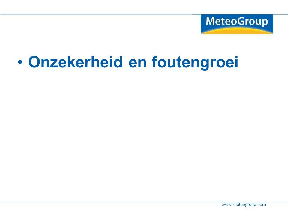 www.meteogroup.com Onzekerheid en foutengroei