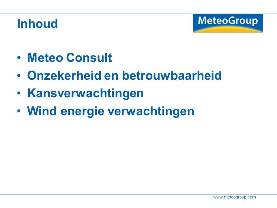 www.meteogroup.com Gemiddelde Bandbreedte (percentielen) Kansen Hoe dit te communiceren? Page 24