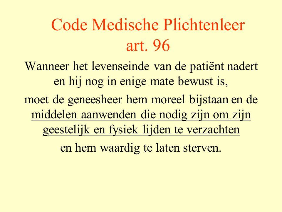 Code Medische Plichtenleer art.