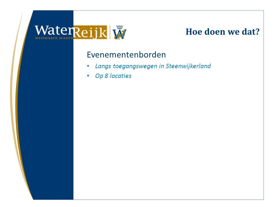 Hoe doen we dat Evenementenborden Langs toegangswegen in Steenwijkerland Op 8 locaties
