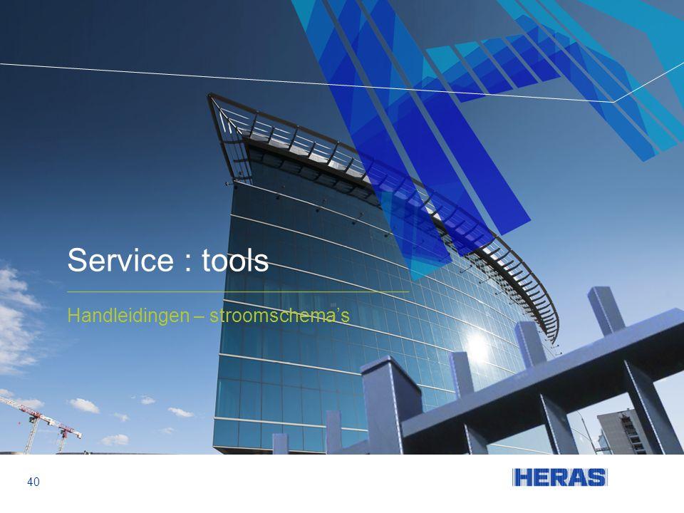 Service : tools Handleidingen – stroomschema's 40