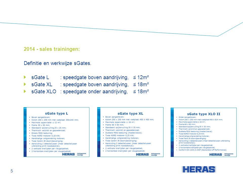 2014 - sales trainingen: Definitie en werkwijze sGates.
