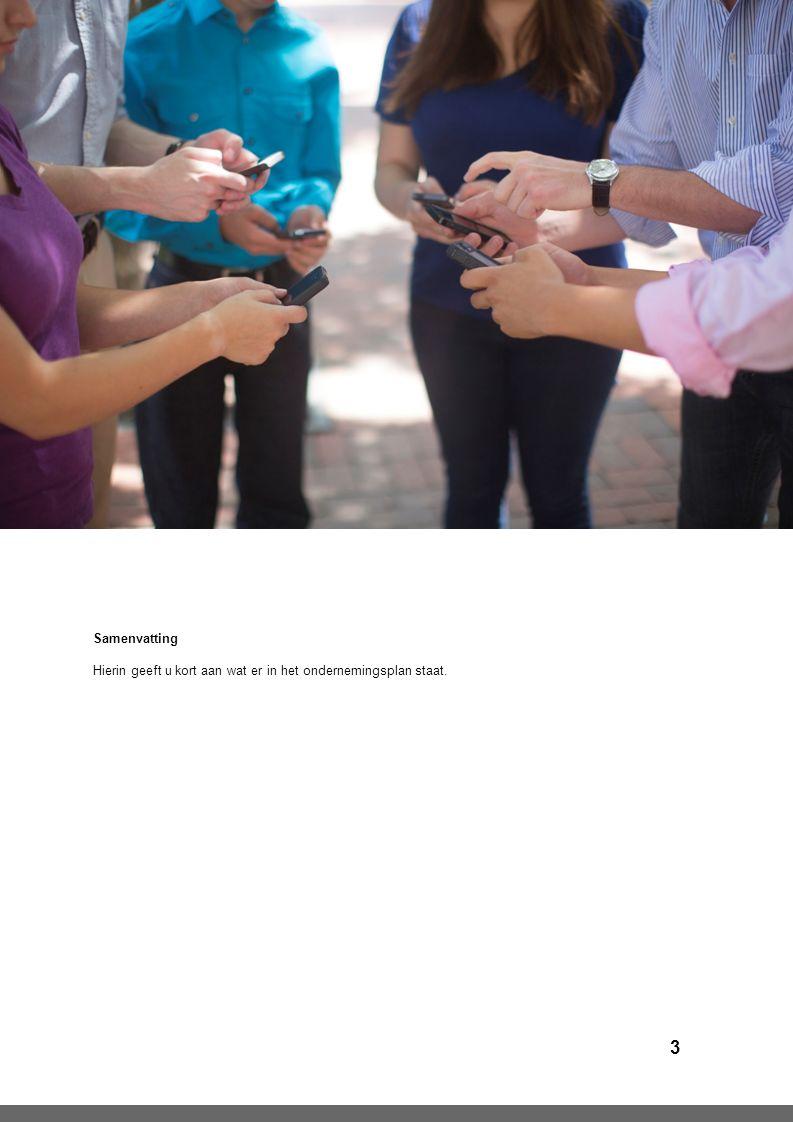 4 Algemeen Persoonlijk informatie Uw omschrijving (opleiding, branche ervaring, motieven, persoonlijke kwaliteiten, etc.).
