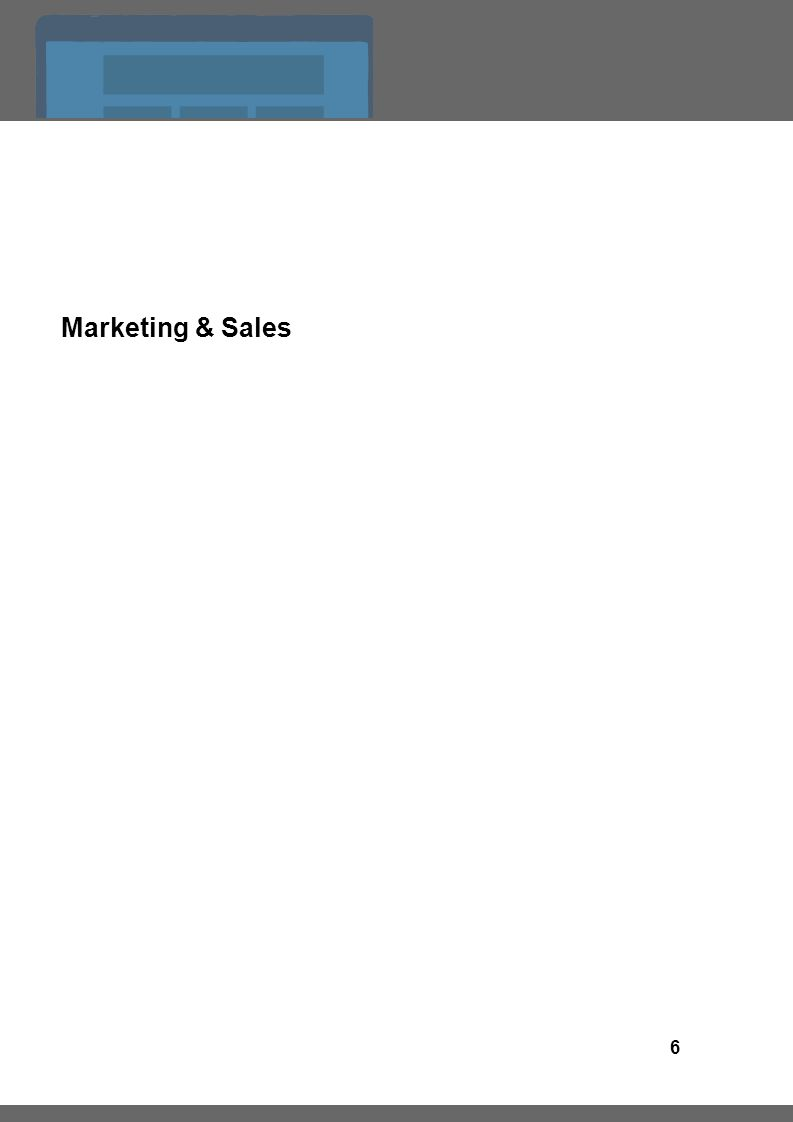 6 Marketing & Sales