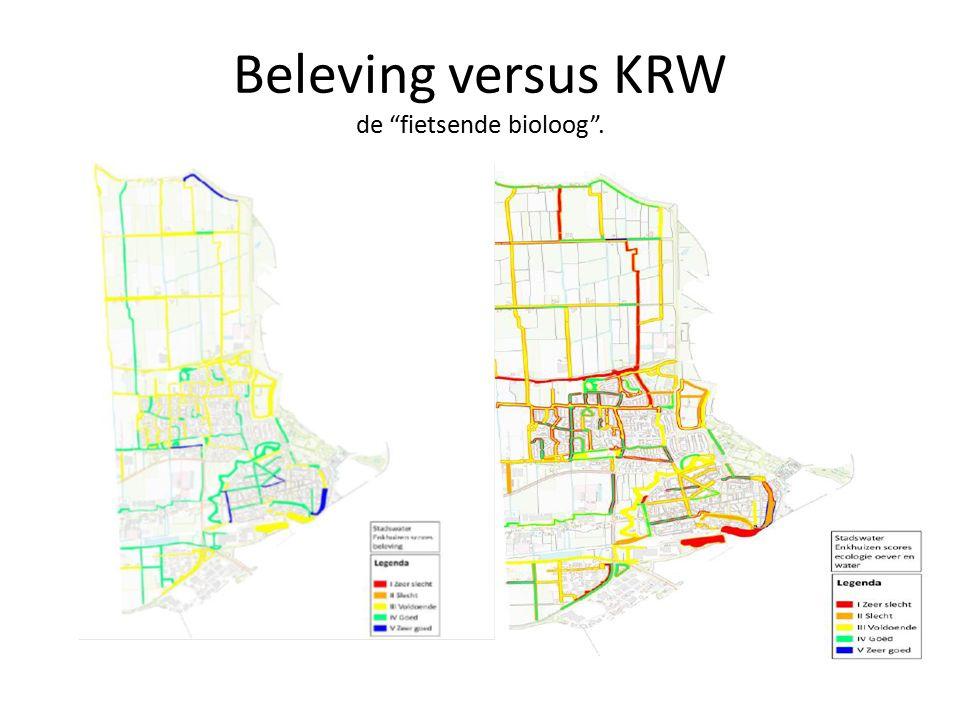Beleving versus KRW de fietsende bioloog .