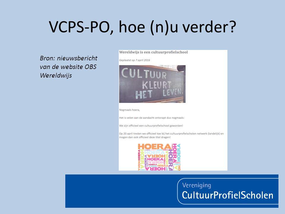 VCPS-PO, hoe (n)u verder? Bron: nieuwsbericht van de website OBS Wereldwijs