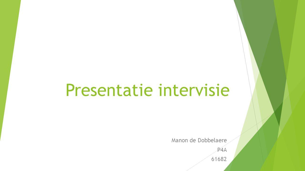 Presentatie intervisie Manon de Dobbelaere P4A 61682