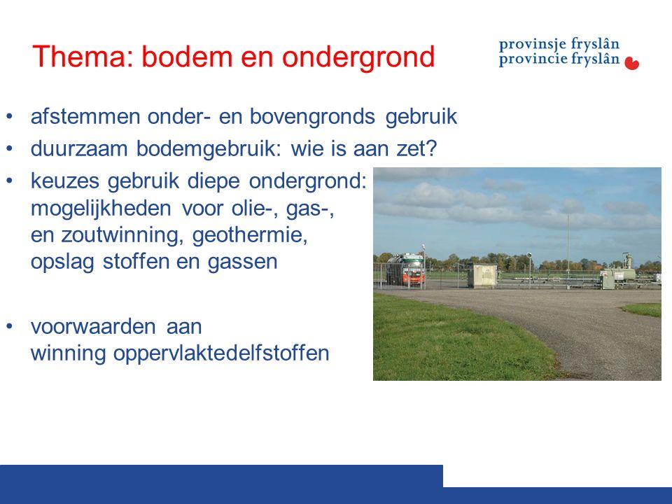 Thema: bodem en ondergrond afstemmen onder- en bovengronds gebruik duurzaam bodemgebruik: wie is aan zet.