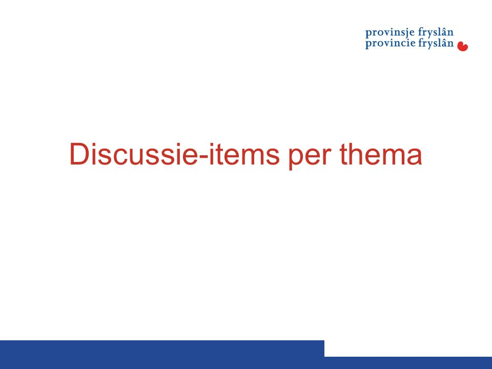 Discussie-items per thema