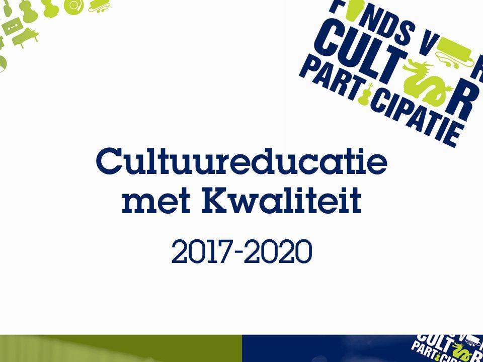 Cultuureducatie met Kwaliteit 2017-2020