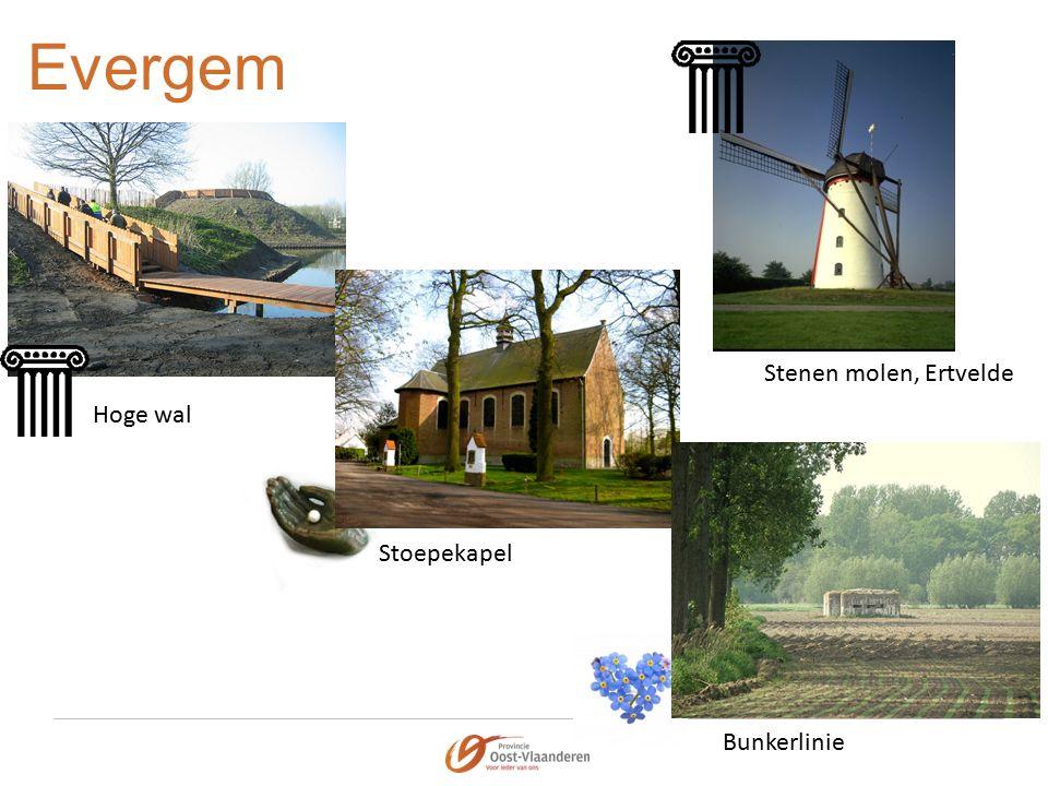 Evergem Hoge wal Stoepekapel Stenen molen, Ertvelde Bunkerlinie