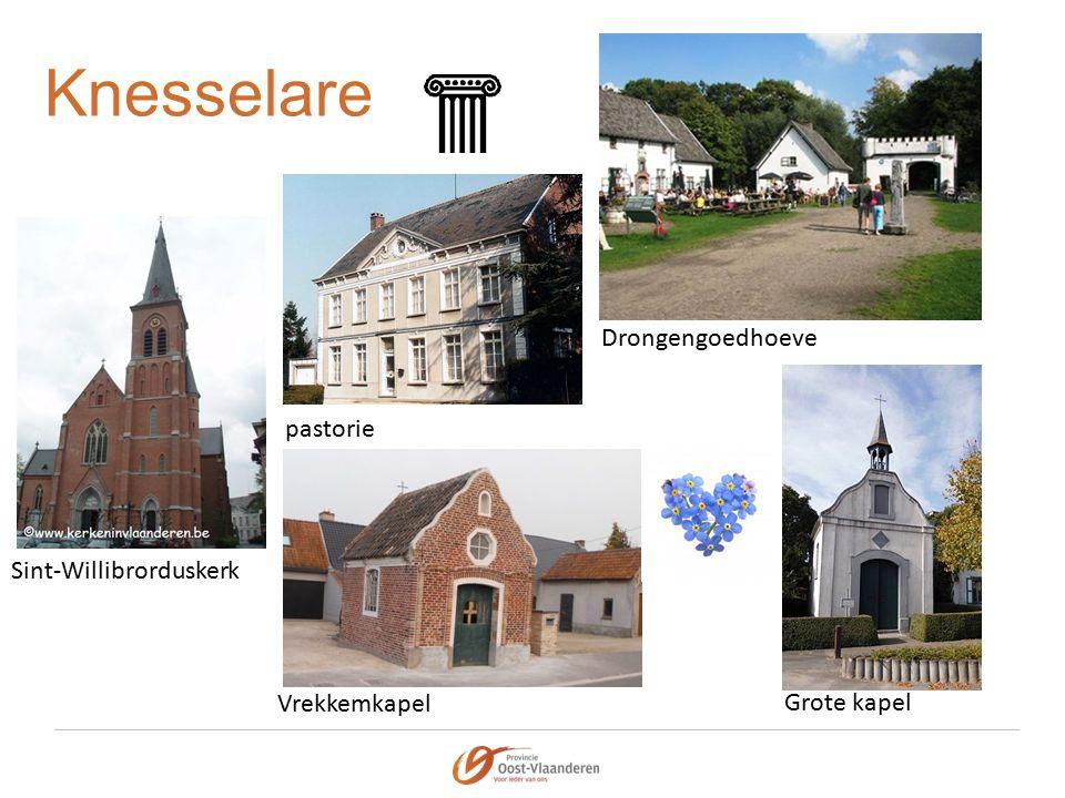 Knesselare Sint-Willibrorduskerk Drongengoedhoeve pastorie Vrekkemkapel Grote kapel