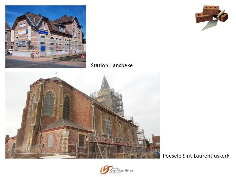 Station Hansbeke Poesele Sint-Laurentiuskerk
