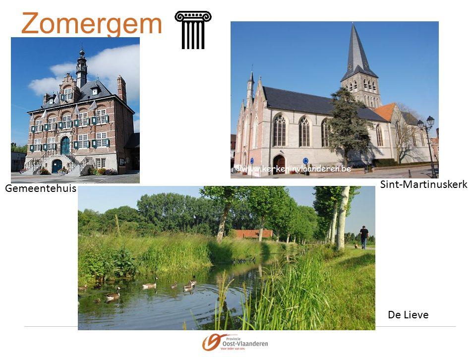 Zomergem Gemeentehuis Sint-Martinuskerk De Lieve
