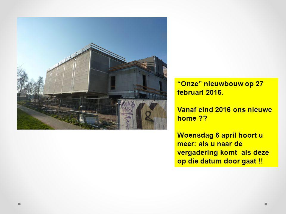 """""""Onze"""" nieuwbouw op 27 februari 2016. Vanaf eind 2016 ons nieuwe home ?? Woensdag 6 april hoort u meer: als u naar de vergadering komt als deze op die"""