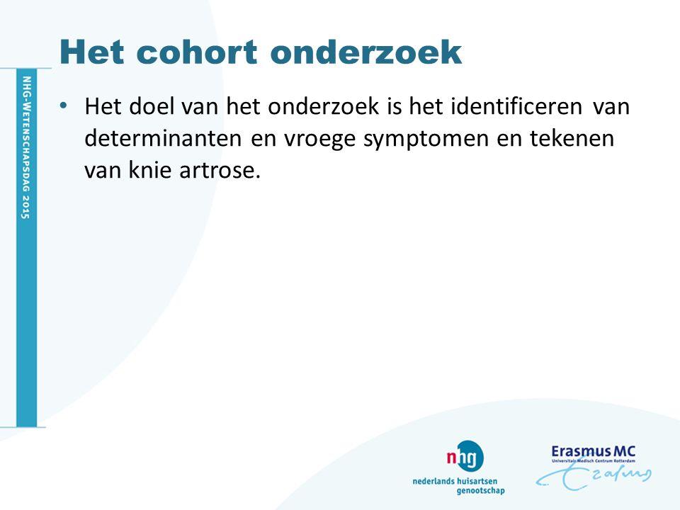 ERGO Erasmus Rotterdam Gezondheid Onderzoek Langlopend bevolkingsonderzoek 15.000 mensen van 45 jaar en ouder Rotterdamse wijk Ommoord Naar determinanten en risicofactoren voor gezondheidsproblemen die op oudere leeftijd vaak voorkomen