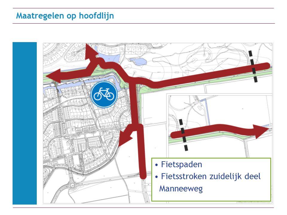 Maatregelen op hoofdlijn Fietspaden Fietsstroken zuidelijk deel Manneeweg