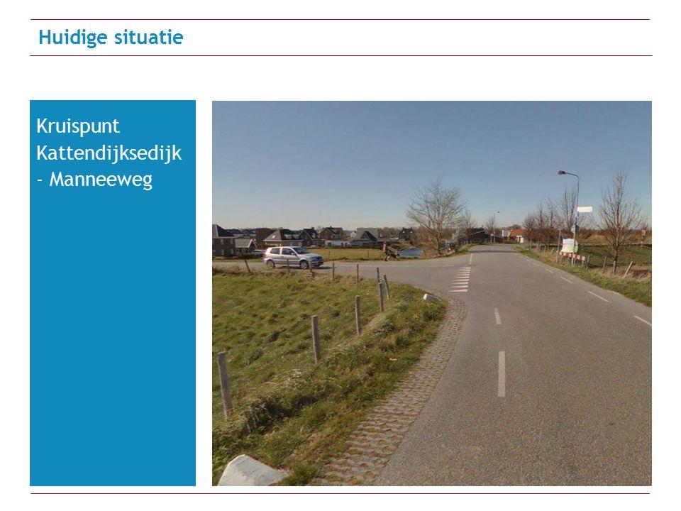 Huidige situatie Kruispunt Kattendijksedijk - Manneeweg