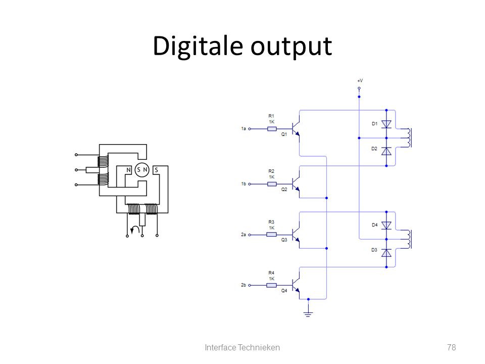 Interface Technieken78 Digitale output