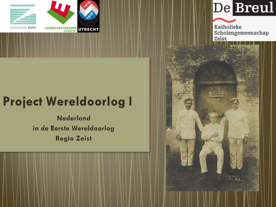 Nederland in de Eerste Wereldoorlog Regio Zeist