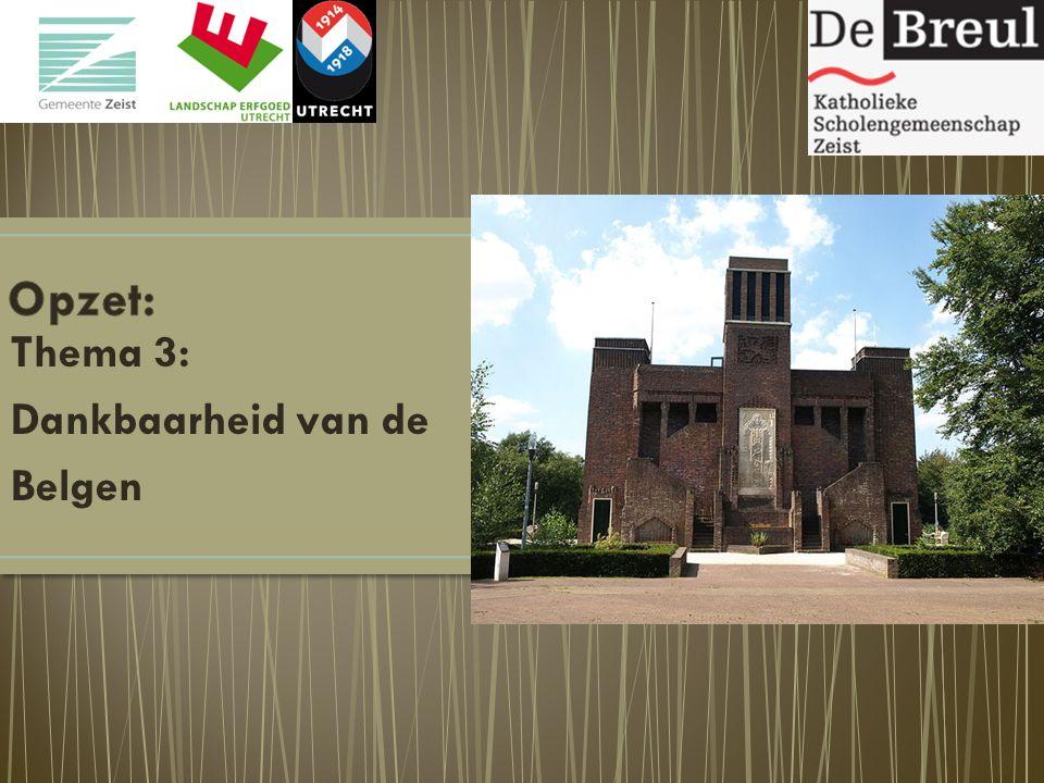Thema 3: Dankbaarheid van de Belgen