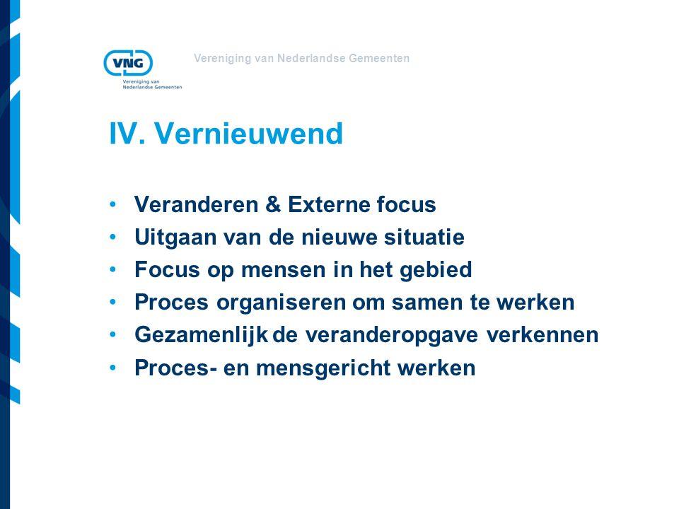Vereniging van Nederlandse Gemeenten IV.