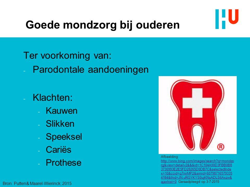 Prothese Afbeelding: http://www.tandarts.nl/mondzorg/aandoeningen/mondafwijkingen Geraadpleegd op 23-11-15 Cheilitus angularis / ragaden