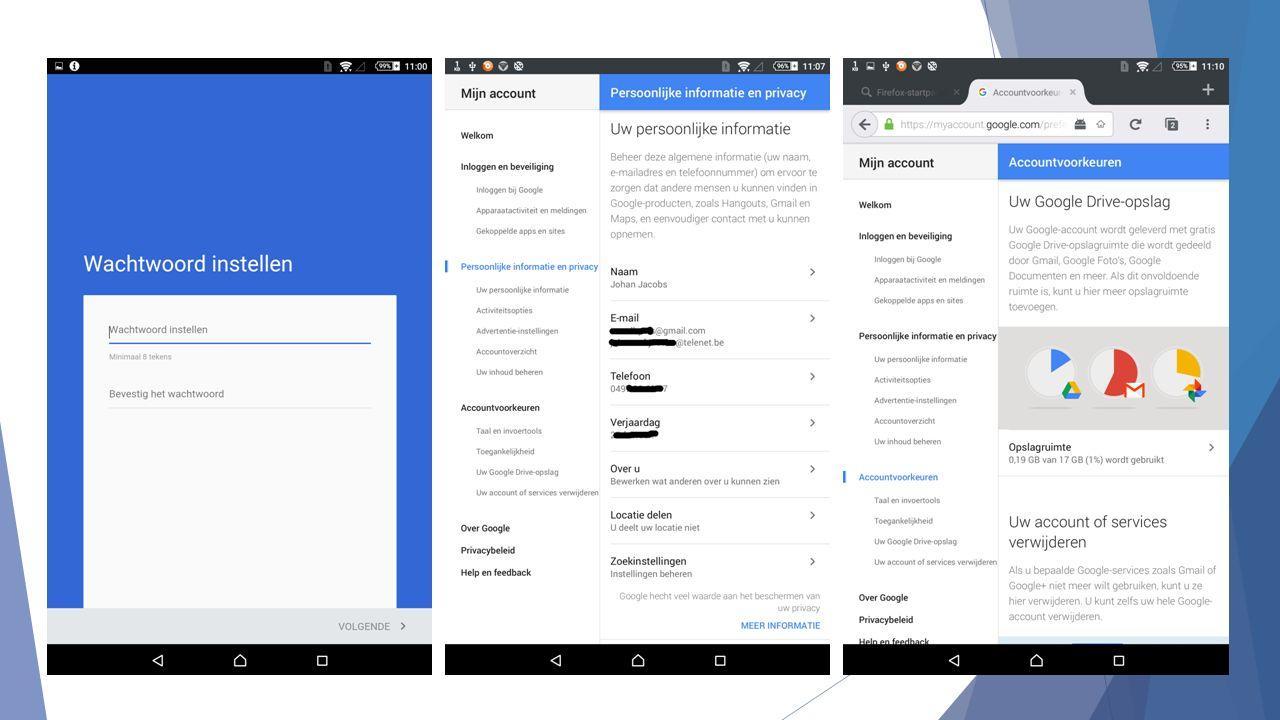 Selectief gebruik  Je hebt alle Google-diensten ter beschikking  Je bent niet verplicht ze allemaal te gebruiken  Je kan bijvoorbeeld je e-mailadres (van Gmail) ongebruikt laten