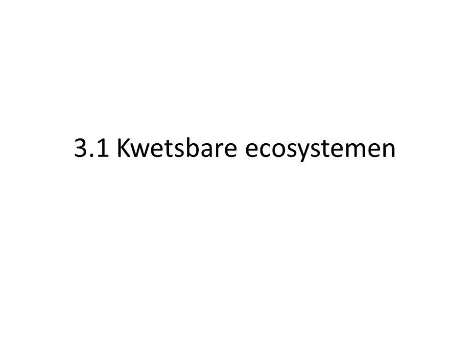 3.1 Kwetsbare ecosystemen