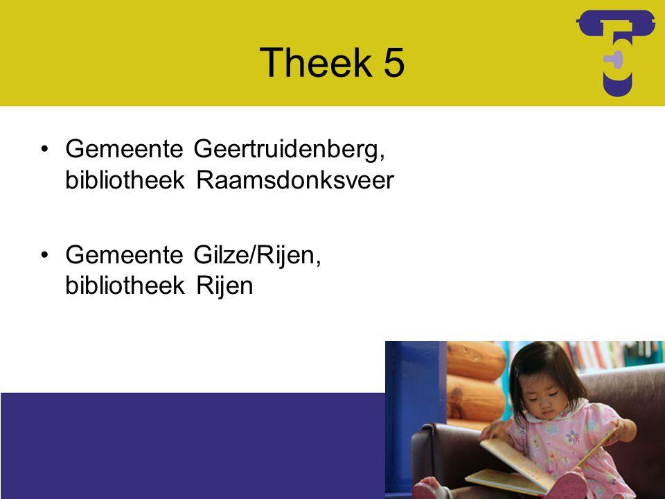 Inrichting Styliste Theek 5 (Carla Roberti) Huisstijl en Boekstart Zitmeubel Kast Mat en/of kussens Verschoontafel toilet Babyzit