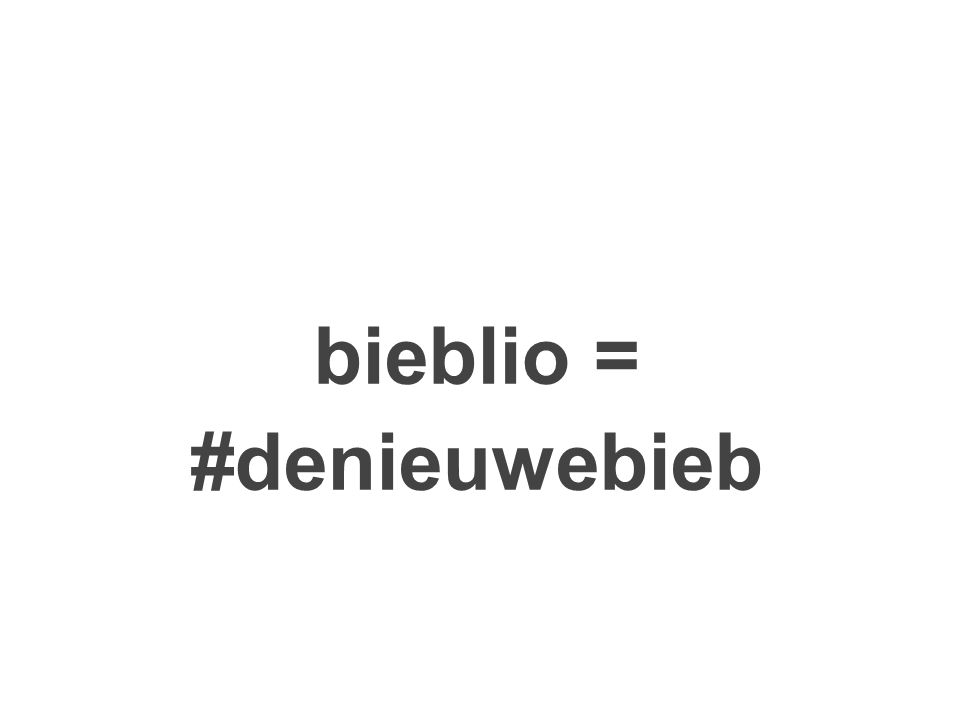bieblio = #denieuwebieb