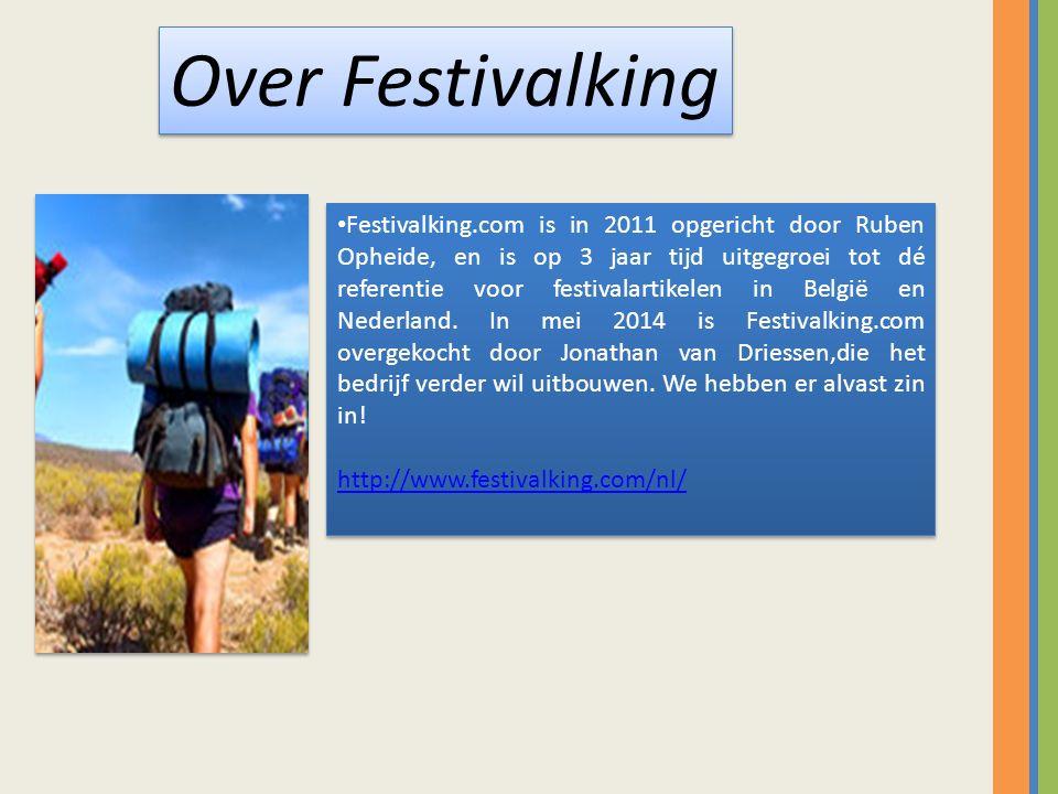 Festivalking.com is in 2011 opgericht door Ruben Opheide, en is op 3 jaar tijd uitgegroei tot dé referentie voor festivalartikelen in België en Nederland.