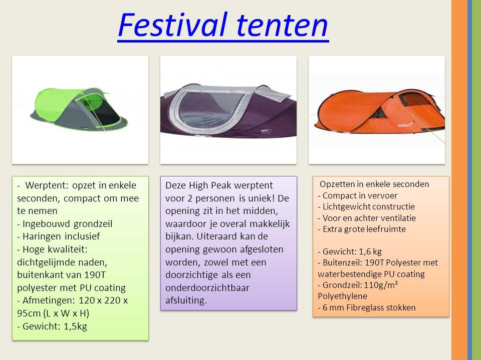 Festival tenten Deze High Peak werptent voor 2 personen is uniek.