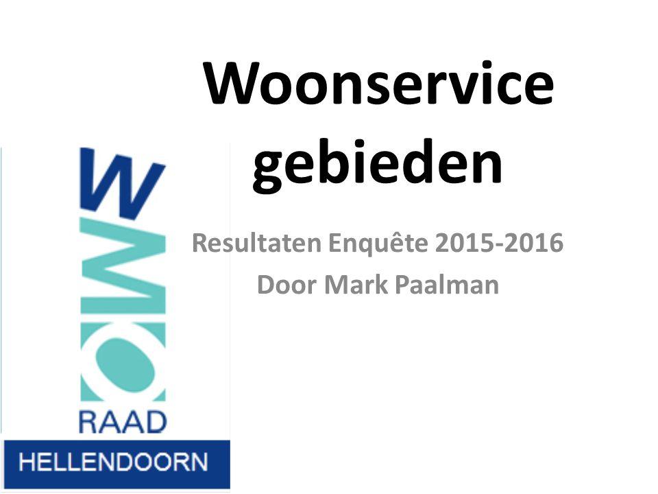 Woonservice gebieden Resultaten Enquête 2015-2016 Door Mark Paalman