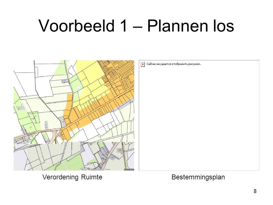 9 Voorbeeld 1 – Plannen totaal Verordening Ruimte i.c.m. bestemmingsplangrens