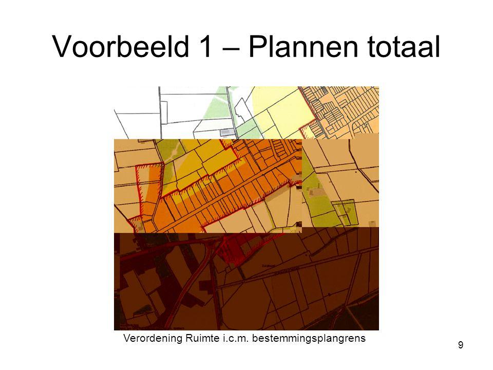 10 Voorbeeld 2 – Plannen los Verordening RuimteBestemmingsplan